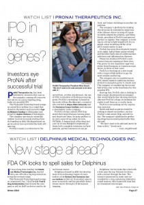 IPO in the genes - ProNAi