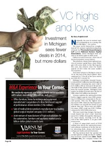 VC Highs and Lows -- Michigan Deal Winter 2014