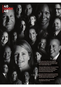 2015 40 Under 40 Section Cover