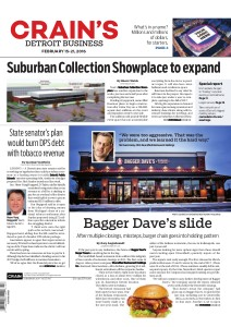 Feb 15 2016 Bagger Daves front page